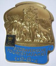 ♠ ADAC Badge Südbayrische Gau Touristik Fahrt 1984 ♠
