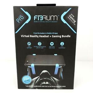 FiBRUM Mobile Virtual Reality Headset Pro Model Gaming Bundle Black Blue