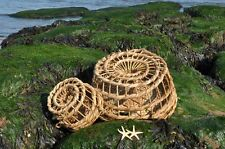 Set of two wicker lobster/ crab pots traps pot trap