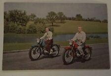 VINTAGE HARLEY DAVIDSON 125 Motorcycle ADVERTISING POSTCARD