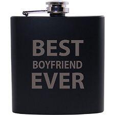 Best Boyfriend Ever 6oz Black Flask - Great Gift for Birthday,Valentines Day, An