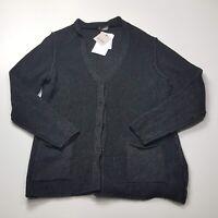 Persona By Marina Rinaldi Made In Italy Women Cardigan Charcoal New Jacket  M