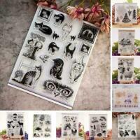 Xmas Tier DIY Scrapbook Stempel Transparente Silikon-Dichtung Craft Relief N2Q1
