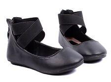 Black nn Zipper Dress Kids Ballet Flats Girls Flats Youth Casual Shoes Size 10