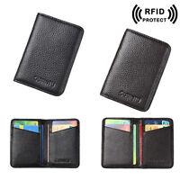 Men's Leather Wallet RFID Blocking Magic Money Clip ID Credit Card Holder Purse