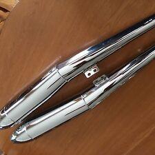 VINTAGE BMW R50/5-R75/5 NEW PAIR OF BEAUTIFUL CHROME CIGAR SHAPE  MUFFLERS