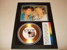 GEORGE MICHAEL    ( WHAM  )  SIGNED  GOLD CD  DISC     wham