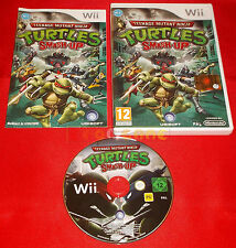 TEENAGE MUTANT NINJA TURTLES SMASH-UP TMNT Nintendo Wii Italiano 1ª Ed USATO D4