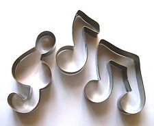 Music Notes Symbol Fondant Biscuit Baking cookie cutter stainless steel set