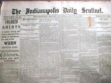Lot of 200 COMPLETE ORIGINAL US newspapers dated between 1820-1889 Victorian Era