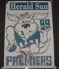 1999 North Melbourne KANGAROOS AFL Herald Sun Premiers WEG Poster - MINT