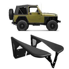 Matte Black Front Armor Wheel Fender Flare Fit 1997-2006 Jeep Wrangler TJ 2 Dr