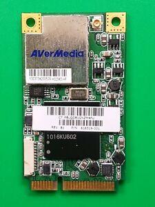 Avermedia H323-B NTSC ATSC Mini-PCI-e TV Media Card 0405H323-DVD P/N 616519-001