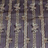 "Antique French Lyon Silk Brocade Lampas Fabric Sample c1860-1870*~L-23 X W-21"""