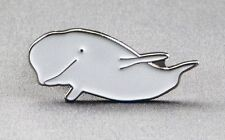 Metal Enamel Pin Badge Brooch Whale Beluga Whale Wale Ocean Aquatic Sea Mammal