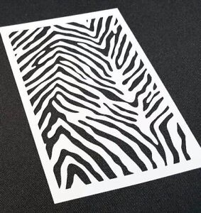 Zebra Pattern Texture Airbrush Stencil Reusable Mylar Craft Paint Decoration