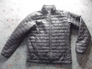 Men's PATAGONIA quilted gray poly filled jacket Sz. XL