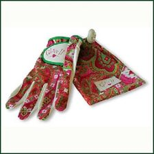 New Ladies Glove It Pink Paisley Golf Glove. Size Extra Large