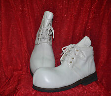 ZYKO Professional Real Leather Clown Shoes All White model (ZH021)
