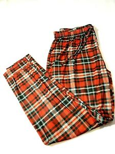Women's Fabric Red Checked Trousers Bottoms UK Various SIZES 8,12,14,16 NEW