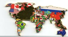 Gold World Map Flags Coin BLM Word Love in many Languages Peace BAME Justice USA