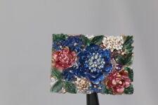 Schöner bunt bemalter Blüten-Zierknopf - wohl ab 2010