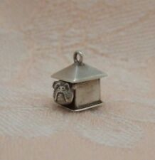 Vintage 1940's - 50's DOG HOUSE With MOVABLE BULLDOG ~ SMALL Sterling Charm