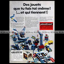 PLASTICANT Jouet 1970 - Pub / Publicité / Original Advert Ad #A941