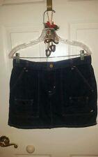 EUC Ralph Lauren Polo Dark Wash Denim Jean Mini Cargo Pocket Skirt  Size 8