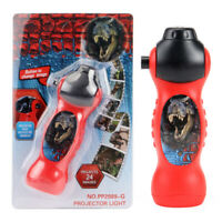 AU_ Dinosaur Pattern Torch Projector Flashlight Kids Bedtime Story Educational T