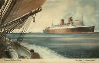 Cunard White Star Line The New Mauretania 1930s Postcard