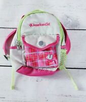 American Girl School Backpack Pink Plaid Gray Accessories Set Retired
