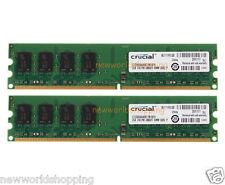 Crucial 4GB 2X 2GB PC2-5300 DDR2 667MHz 240PIN DIMM Desktop Memory RAM NON-ECC