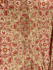 Discontinued Polo Ralph Lauren Red Gold Full/Queen Duvet Cover 100% Cotton Italy