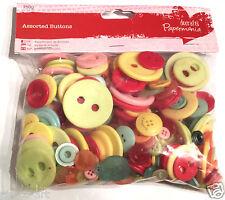 Docrafts Papermania 250 gram bolsa surtido plástico botones VINTAGE colores