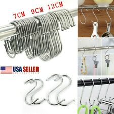 US Stainless Steel S Shaped Hook Kitchen Meat Pan Utensil Clothes Hanger Hanging