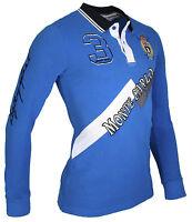 Polo Hombre Slim Fit Camisa Manga Larga Camiseta Azul Marino/ Blanco/ Azul/ Rojo