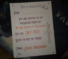 Handmade Nightmare Before Christmas Invitations Personalised version