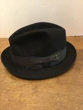 Stetson Vintage 3X Beaver Black Fedora Size 7 Selv-Edge 5789d86de864