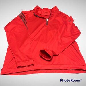 ADIDAS Jacket  1/4 Quarter Zip Pullover Men's XL  red