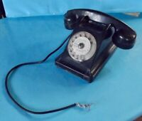 Ancien Téléphone à cadran circulaire vintage deco living-room épave 1970 Bureau