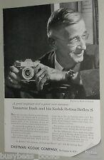 1959 KODAK RETINA REFLEX S advertisement, with Karsh photo of Vannevar Bush