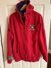 ADIDAS CHICAGO FIRE Vintage Mens Full Zipper Sweatshirt, LARGE, Red Navy Blue
