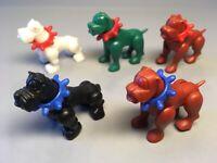 STECKIS: Hunde mit Halsband (5 verschiedene) EU 1988