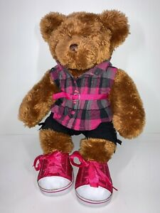 """Brown Bear Factory Plush Soft 15"""" Toy With Build A Bear Outfit & Shoes"""