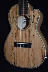 Maui Ukulele Co. Spalted Maple Concert with Pick up