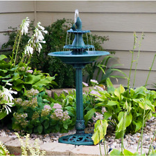 Bird Bath Fountains Stand Pedestal Garden Outdoor Water Pump Patio Birdbath Yard