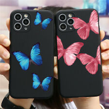 Butterfly Pattern Soft Silicone Cover For iPhones 11 Samsung Huawei Xiaomi Case