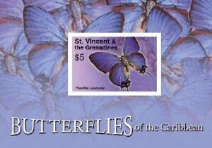 St. Vincent 2007 - SC# 3570 Butterflies of the Caribbean - Souvenir Sheet - MNH