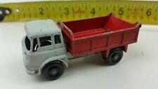 Vintage Lesney England Matchbox No 3 Bedford 7 1/2 Ton Tipper Truck  Red Grey